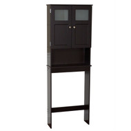 Espresso Bathroom Storage Unit Cabinet for Over the Toilet ZWMFE76261