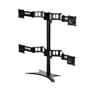 "Quad Monitor Flex Stand, accommodates up to (4) 30"" Monitors, (2x2) DS-430STA-3"