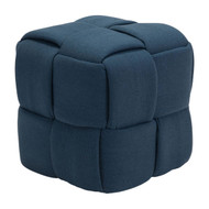 Checks Stool Navy Blue -100640-1