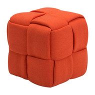 Checks Stool Orange -100641-1