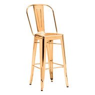 Elio Bar Chair Gold (Set Of 2) -108062-1