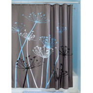 Grey Blue Floral Modern 72 x 72 inch Shower Curtain FSC51984