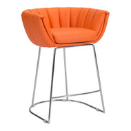 Latte Counter Chair Orange (Set Of 2) -100250-1