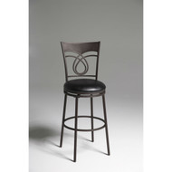 Metal 30-inch Bar Stool with Black Faux Leather Swivel Seat MFB931538