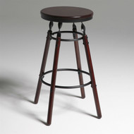 Dark Cherry Finish Wood Barstool with 30-inch High Seat BFB84615