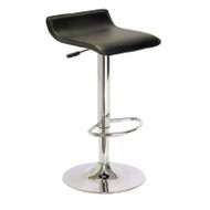 Contemporary ABS Air-Lift Swivel Bar Stool in Black Faux Leather WPABSFLB883
