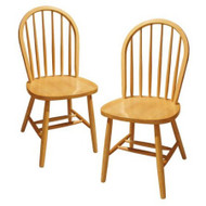 Set of 2 - Solid Beech Wood Dining Chairs in Natural Finish WDCNSOT10563