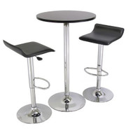 3 Piece Modern Dining Set with Bistro Table and Two Stools W3P24PS169
