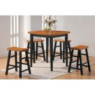 5 Piece Counter Dining Set in Oak/Black A5PCS36ST357