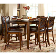 San Francisco 5-Piece Dining Set in Rustic Oak Finish FB5PDS739