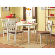 White 5-Piece Dining Table and Chairs Set SW5PDS19149