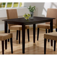 Casual Rectangular Dining Table in Dark Brown Cappuccino Wood Finish MRCD9954