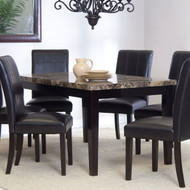 3Ft x 5Ft Contemporary Dining Table with Faux Marble Tabletop CFMCT587136