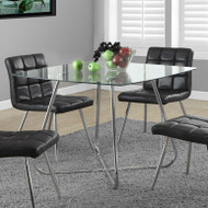 Modern Square Dining Table 40 x 40-inch with Tempered Glass Top DTMS198158