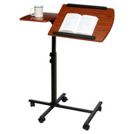Adjustable Height Laptop Cart Computer Desk in Cherry Finish- AHLCDF598271