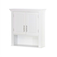 White Bathroom Wall Cabinet Cupboard with Open Shelf- RSWCB1958891
