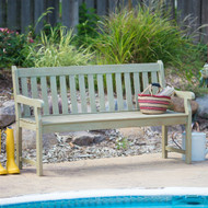 Weather Resistant Outdoor Wood 5-Ft Garden Bench in Driftwood Finish- ASBCB51985101