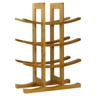 12-Bottle Wine Rack Modern Asian Style in Natural Bamboo WR12N5181-4