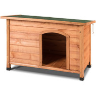 Large Solid Wood Outdoor Dog House with Hinged Asphalt Roof