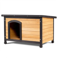 Large Wood Log Cabin Style Outdoor Dog House