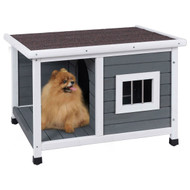 Modern Outdoor Fir Wood Dog House with Asphalt Roof
