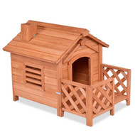 Outdoor Natural Fir Wood Dog House for Small Dogs