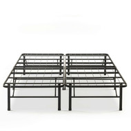 Queen size Folding Sturdy Metal Platform Bed Frame with Storage Space