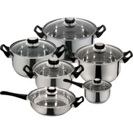 12-Piece Fast Heating Premium Stainless Steel Cookware Set PMS611951