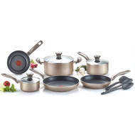 12-Piece Nonstick Dishwasher & Oven Safe Cookware Set in Bronze TCSB789013