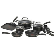 12-Piece Nonstick Dishwasher Safe Cookware Set in Black TSC790654