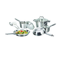 10-Piece Stainless Steel Dishwasher Safe Cookware Set with Glass Lids TF10C7853