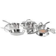 12-Piece Stainless Steel Cookware Set with Copper Bottom TFCUS12P109