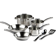 10-Piece Stainless Steel Cookware Set - Dishwasher Safe TFES10P7663