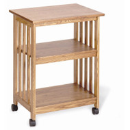 Golden Oak Kitchen Microwave Cart GOMC18641