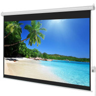 100-inch HD 4:3 Display Electric Movie Theater Projection Screen w/ Remote