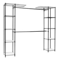 Black Free Standing Open Portable Closet Wardrobe Shelving Unit