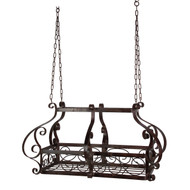 Brow Scrolling Metal Traditional Ceiling Hanging Pot Rack with 12 Hooks BMHPR16914