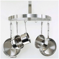Wall Mount Half Circle Pot Rack in Brushed Stainless Steel CHWPR49513