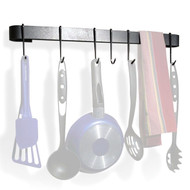 Wall Mounted Kitchen Pot Rack with 8 Hooks and Drywall Anchors ERPR82942