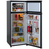 7.4 Cubic Feet Refrigerator with Top Freezer in Black w/ Platinum Finish AES447185415