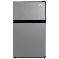 3.1 Cubic Foot Double Door Stainless Steel Refrigerator with Freezer SDR249515