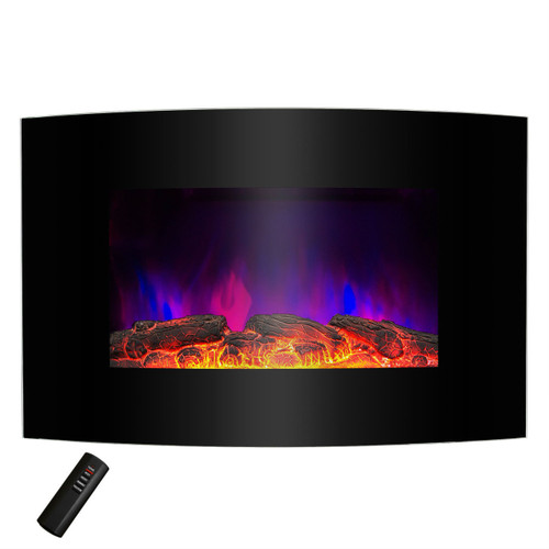 1,500 Watt Wall Mount Electric Fireplace Space Heater with Remote 5,200 BTUs WMESP518195