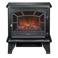 Traditional Style Black Metal 400-Square Foot Electric Fireplace Space Heater BSFE1984850