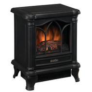 Black Freestanding Electric Stove Style Fireplace Space Heater DFES990515