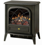 Black Compact Stove Style Electric Fireplace Space Heater with 3D Flame DCES16801