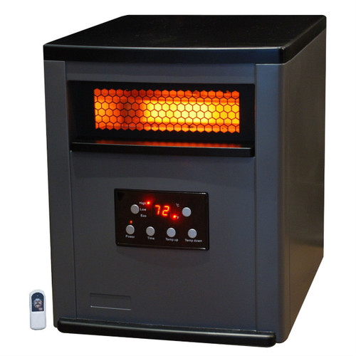 Infrared Space Heater w/ Remote 5,200 BTUs Heat Two Tone Fireproof Cabinet LBIH984155