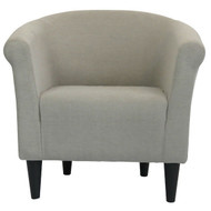 Modern Classic Accent Arm Chair Taupe Upholstered Club Chair TCFHT519815