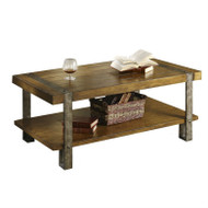Contemporary Modern Classic Coffee Table in Worn Oak Finish SCT36675