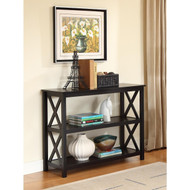 3-Tier Black Sofa Table Bookcase Living Room Shelves BOCST97951