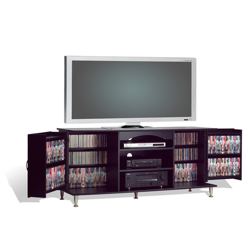 60-inch Plasma TV Stand with Media Storage in Black Finish P60IBTMS22686